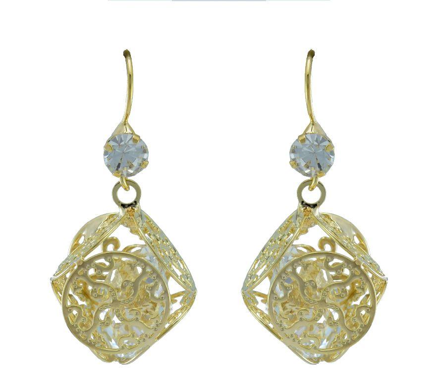 High Trendz Golden Alloy Earrings