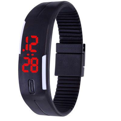 Jm Black Led Casual Watch