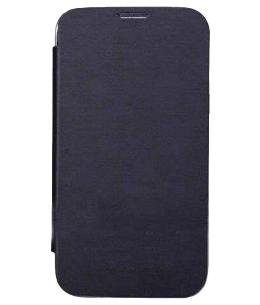 Teflon Flip Cover for Motorola Moto E - Black