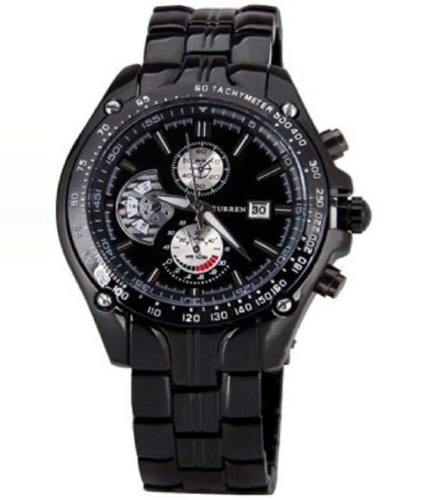 Curren Black Analog Watch