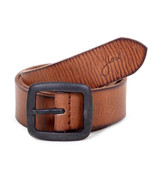 Flinx Brown Genuine Leather Belt for Men