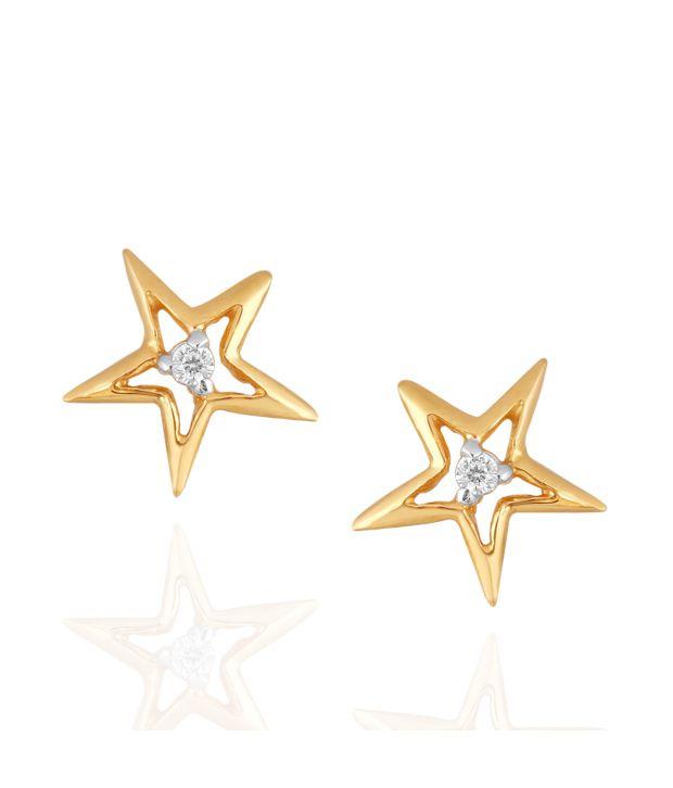 Shuddhi Asmi 18kt Gold Diamond Studs