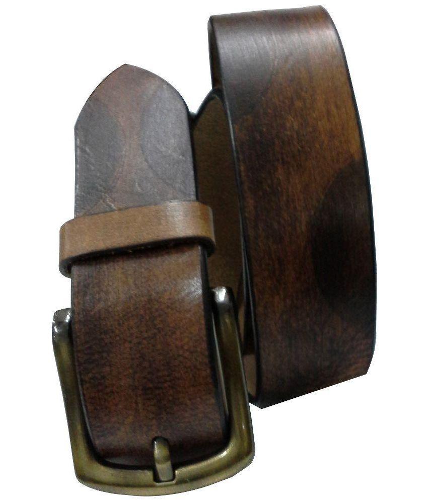 Jaydee India Designer Brown Casual Belt - Set of 2