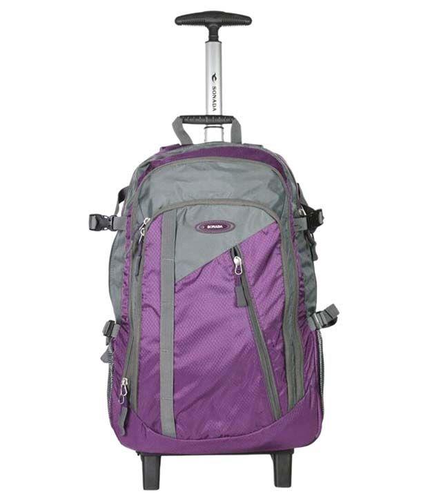 Sonada Bs92798-17t Purple & Grey Backpack Trolley