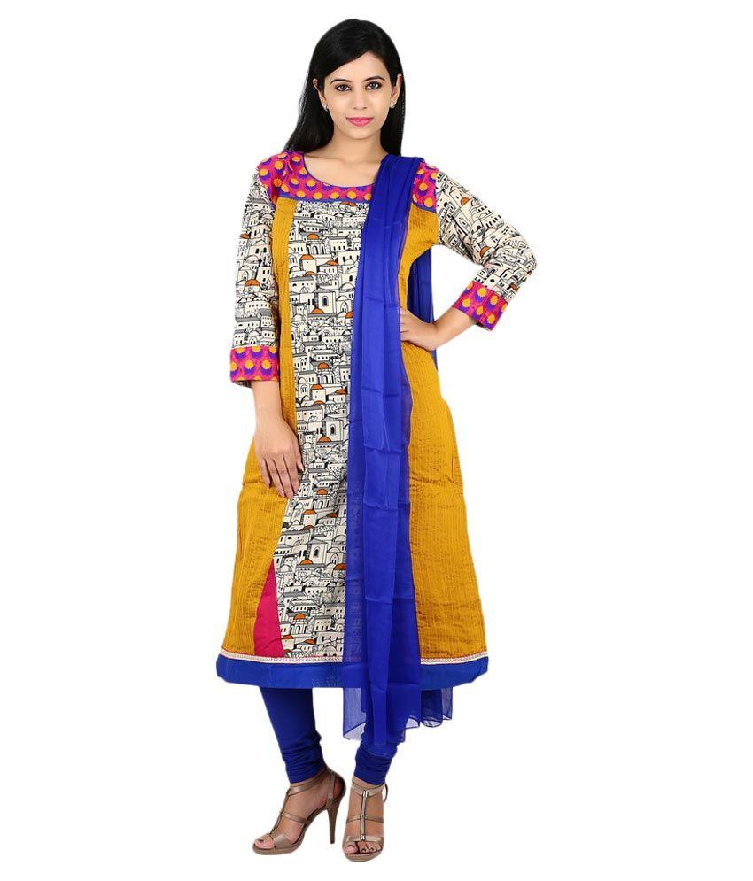 Span Multi Color Cotton Stitched Suit