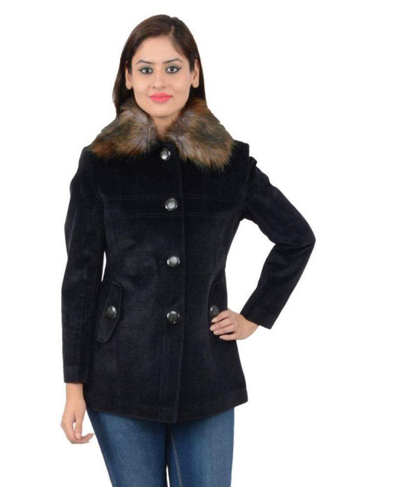 Neeus Black Tweed Coats