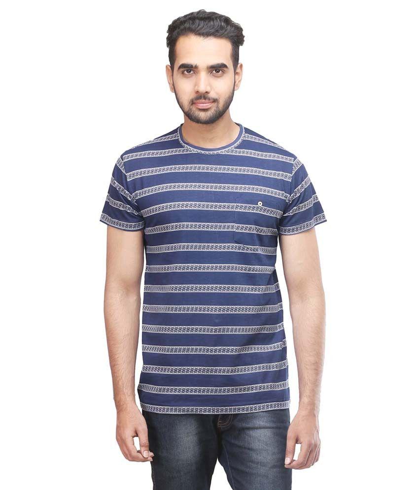 Twisted Soul Blue Cotton T Shirt