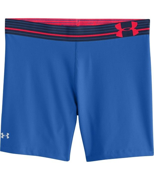 Under Armour Under Armour Blue Womens Heat Gear Alpha Middy Compression Shorts