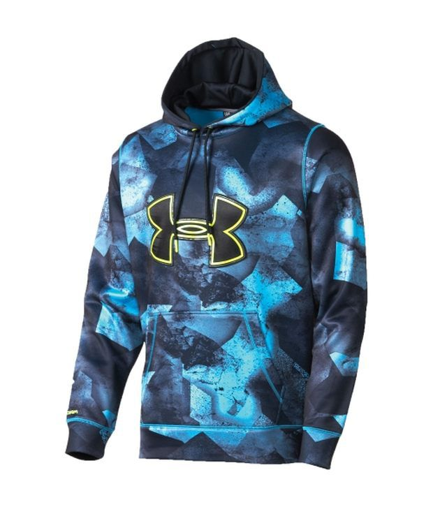 Under Armour Under Armour Blue Mens Storm Armour Fleece Printed Big Logo Sweatshirt
