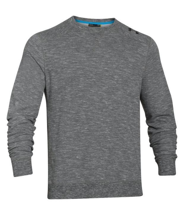 Under Armour Under Armour Grey Mens C1n Signature Crewneck Sweatshirt