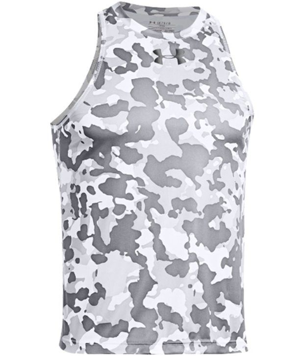 Under Armour Under Armour Grey Mens Renegade Camo Basketball Sleeveless Tank