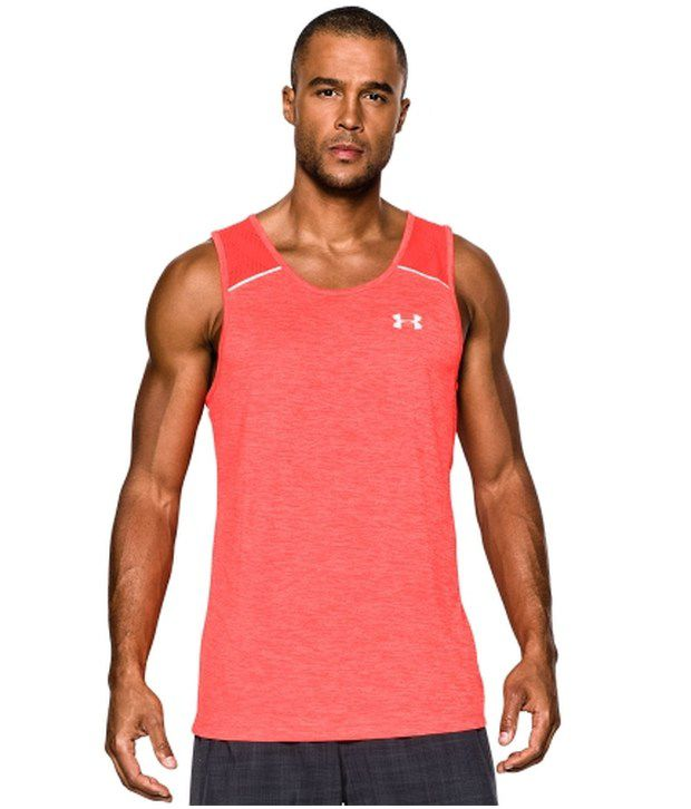 Under Armour Under Armour Red Mens Heat Gear Armour Vent Launch Running Sleeveless Tank