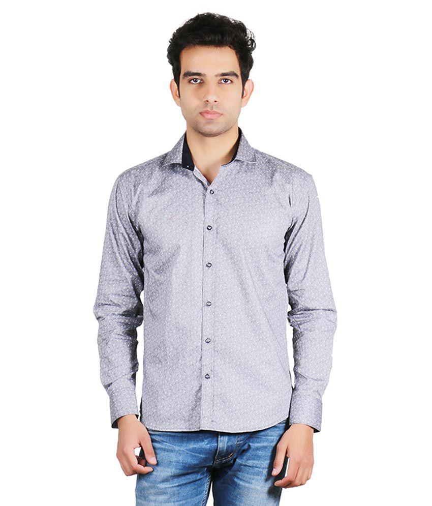 Valbone Grey Casual Shirt