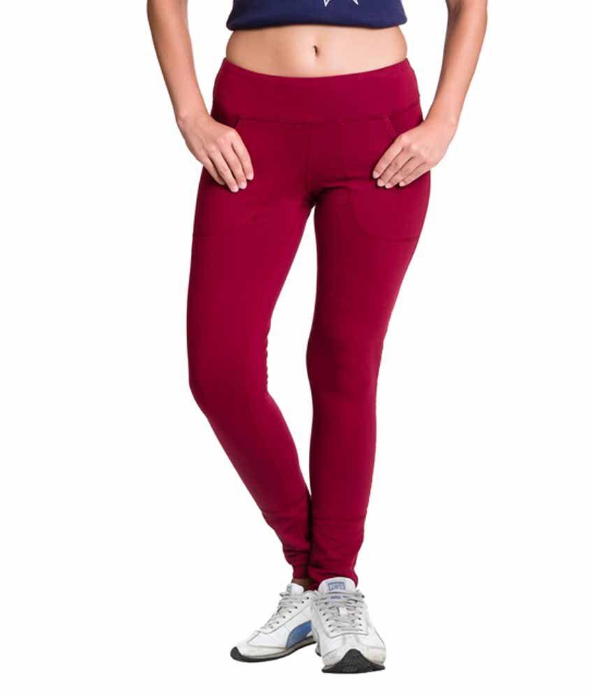 Vrtya Vrtya Pink Cotton Leggings For Women