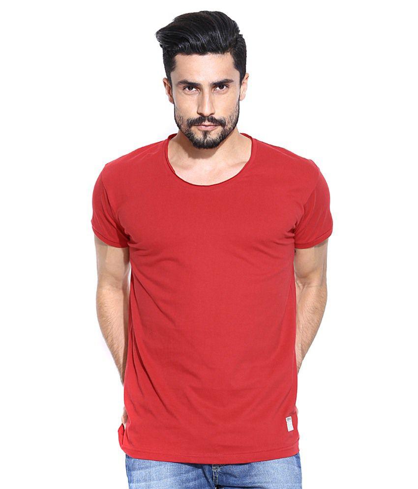 Hubberholme Red Cotton T-shirt