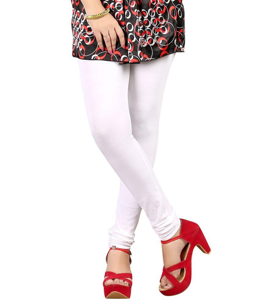 Cherry White Cotton Leggings