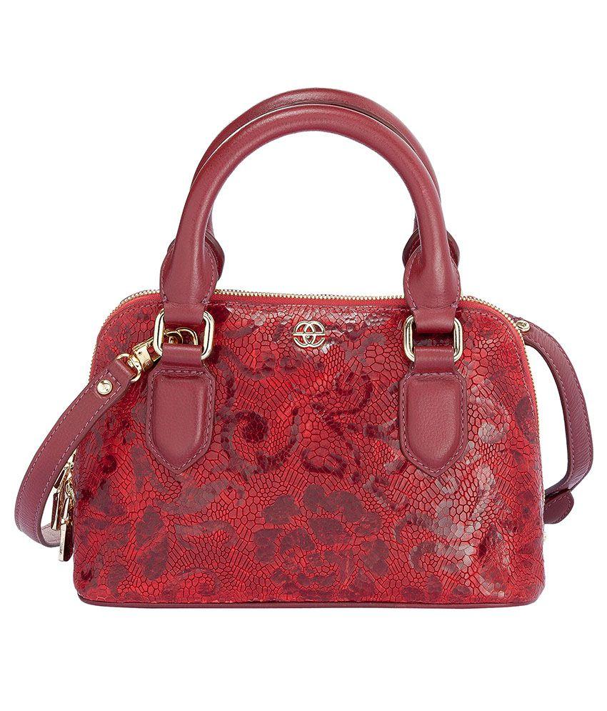 Eske Red Leather Clutch