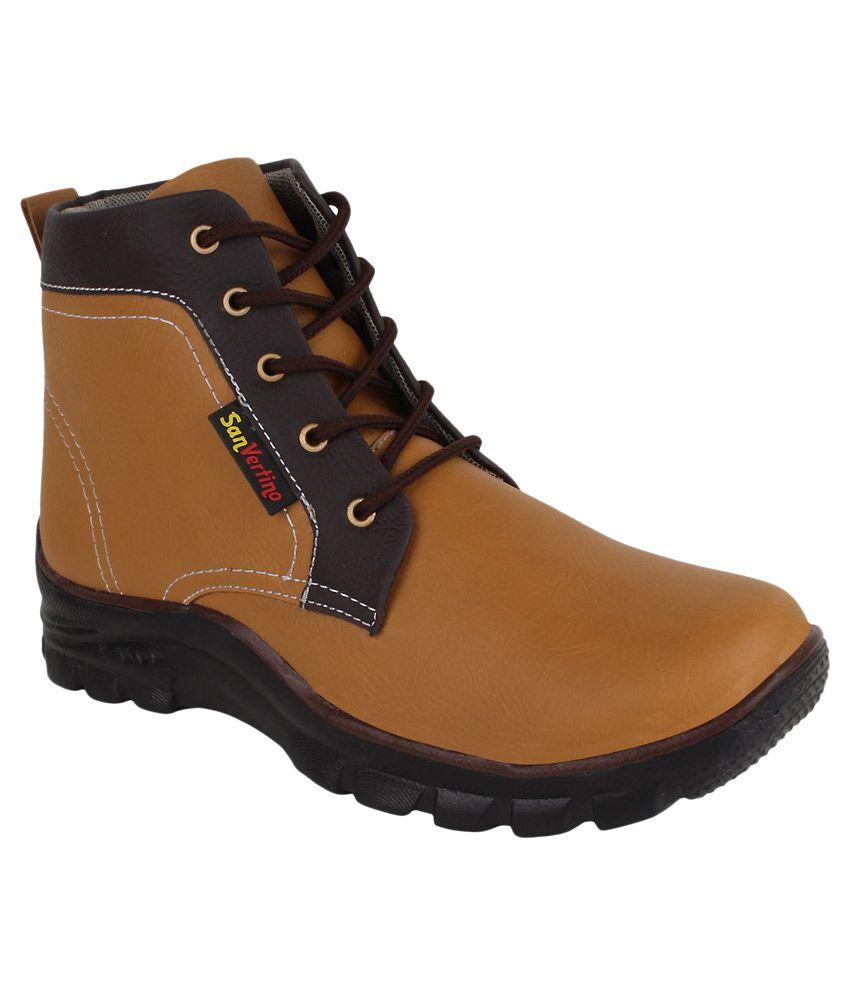 San Vertino Tan Boots