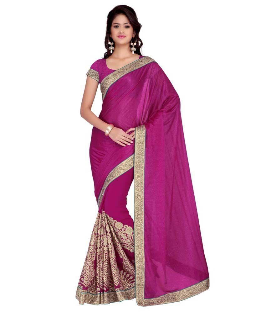 Saree Mall Pink Cotton Saree