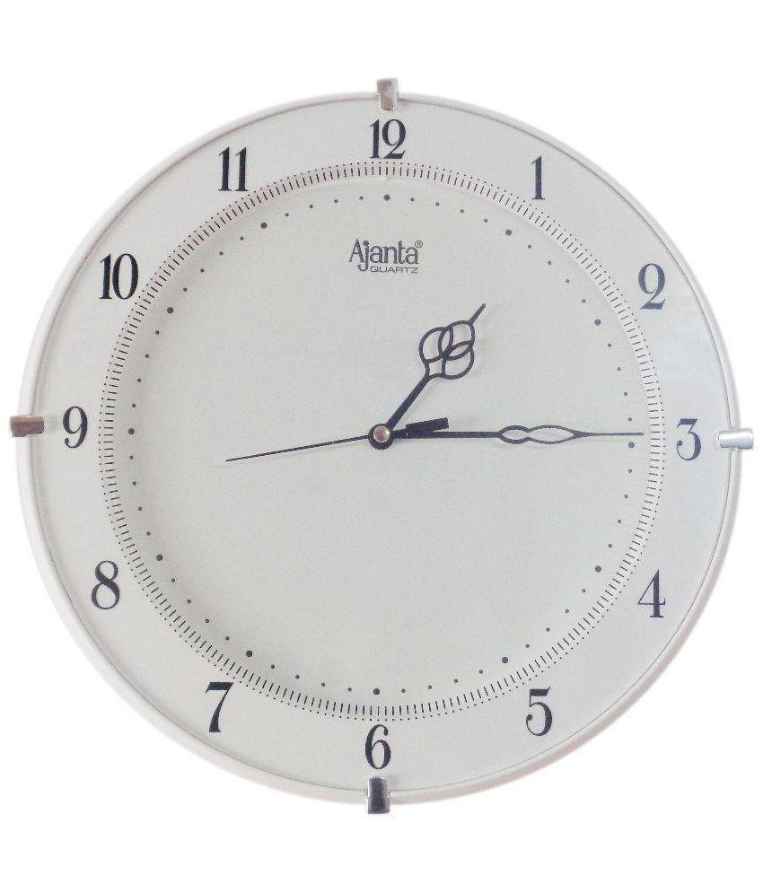 Ajanta White Lac Wall Clock