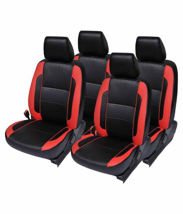 Incredible Elaxa Seat Cover For Hyundai Tucson Set Of 4 Black Red Cjindustries Chair Design For Home Cjindustriesco