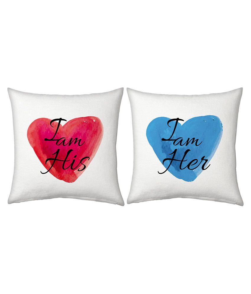 Ethnictreat Designer Romantic Printed Filled Cushions Pair 159