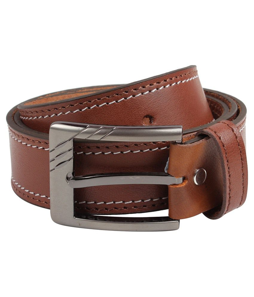 Exotique Tan Leather Belt For Men