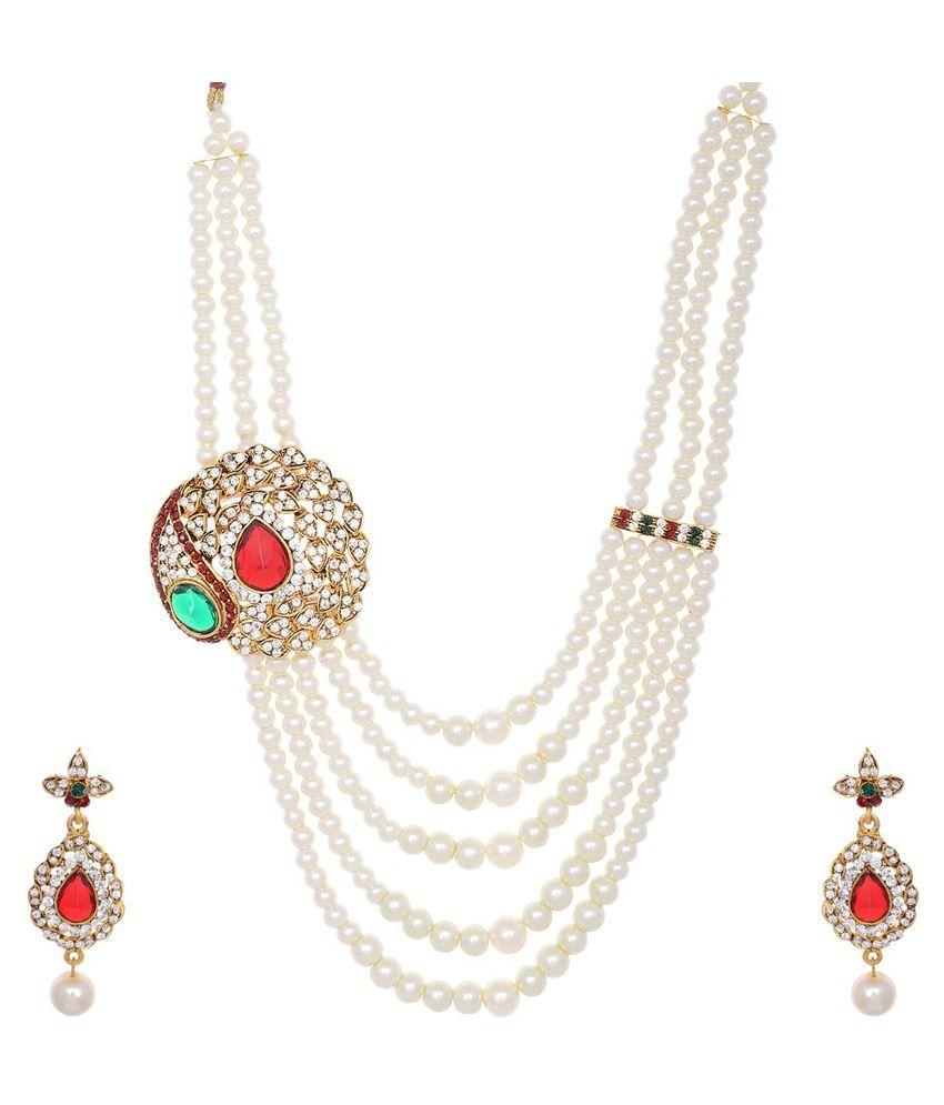 Jai Shree Multicolour Alloy Necklace Set