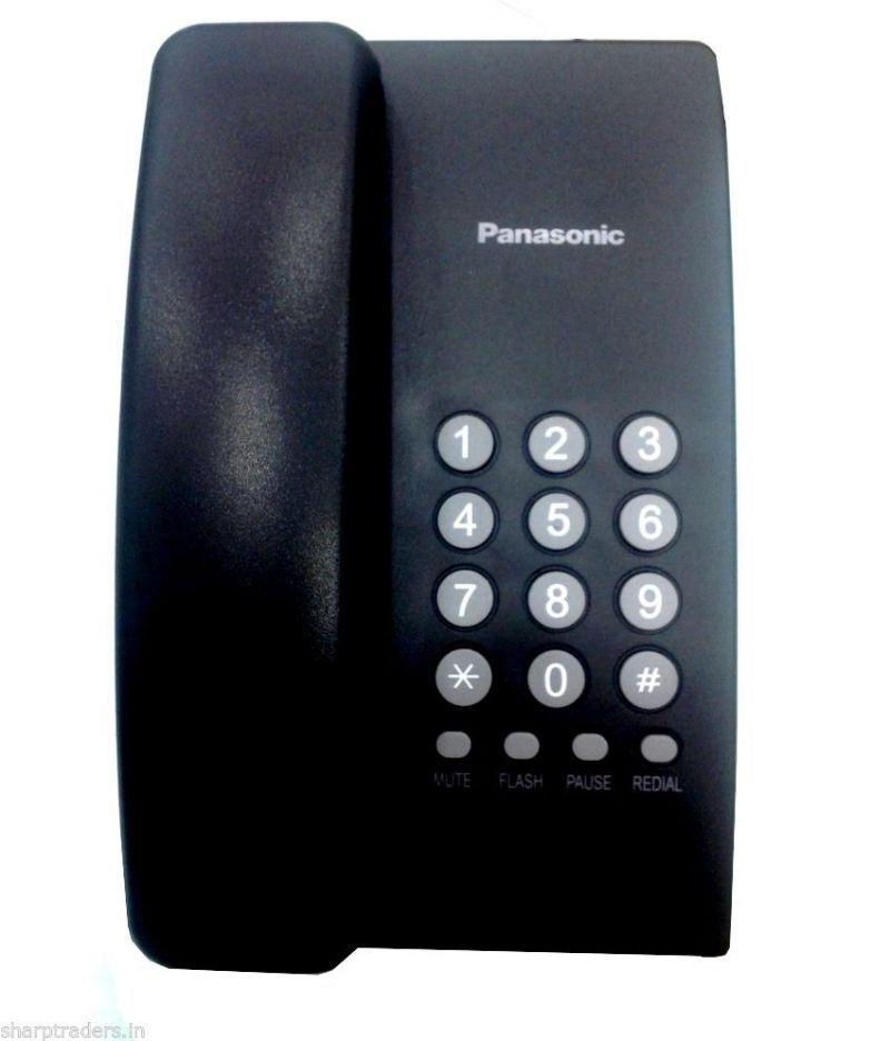 Panasonic Kx ts400sx Corded Landline Phone   Black