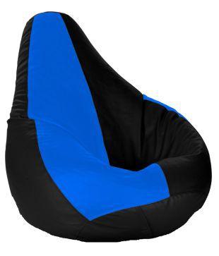 Beanbagwala Bean Bag With Beans Black Royal Blue XXXL