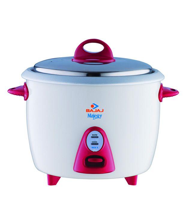 ce8d13b30 Bajaj 1.5 L RCX3 Rice Cooker White Price in India - Buy Bajaj 1.5 L RCX3 Rice  Cooker White Online on Snapdeal