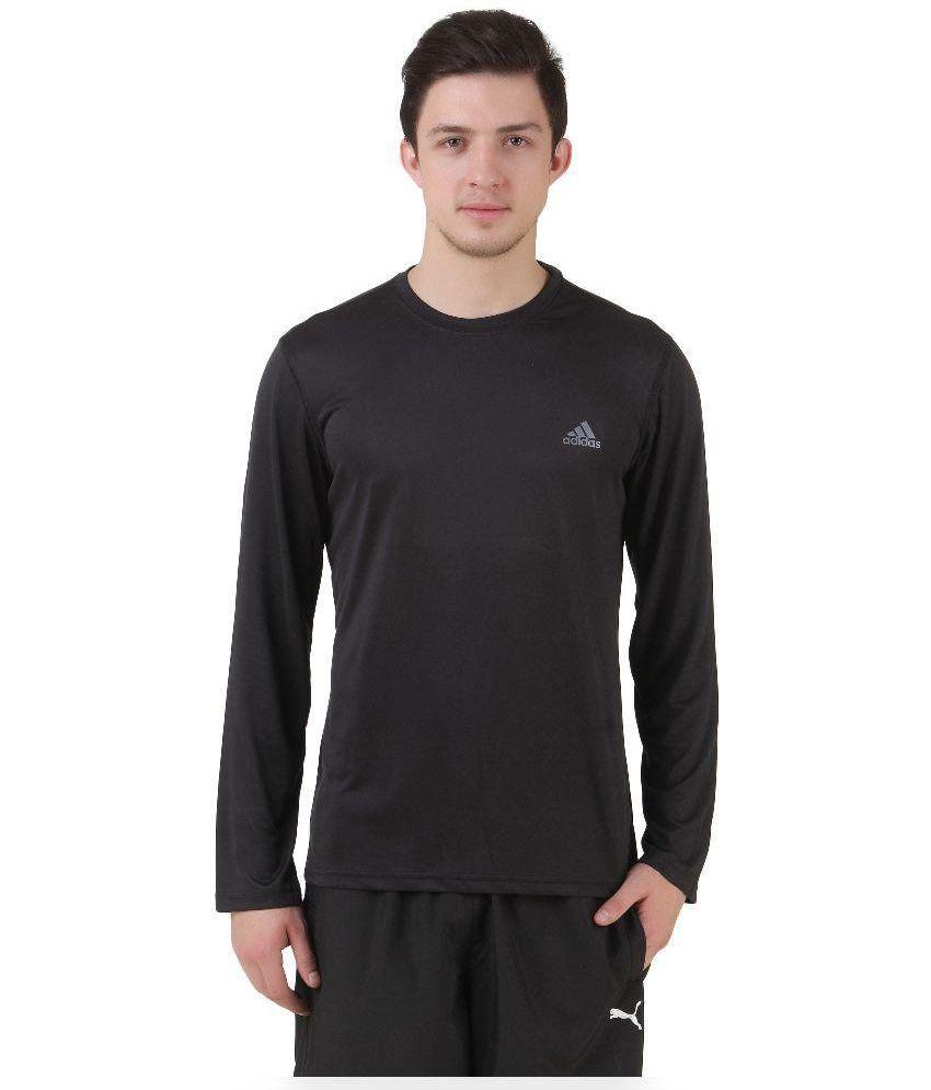 Adidas black full sleeve t shirt buy adidas black full for Full sleeve t shirts online