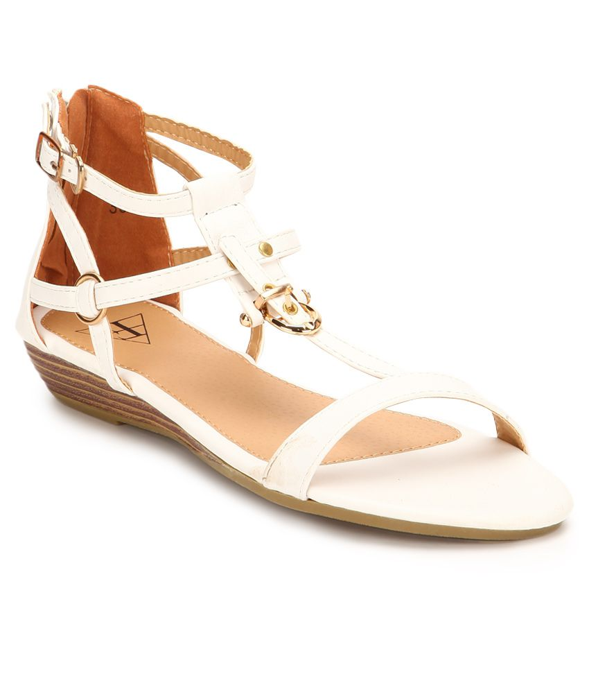 Flaunt By Femina White Sandals