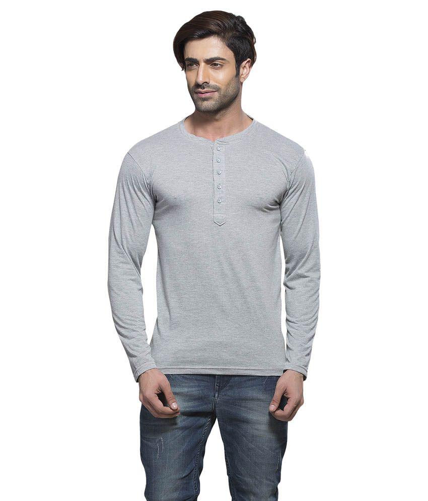 Alan Jones Grey Cotton T-shirt