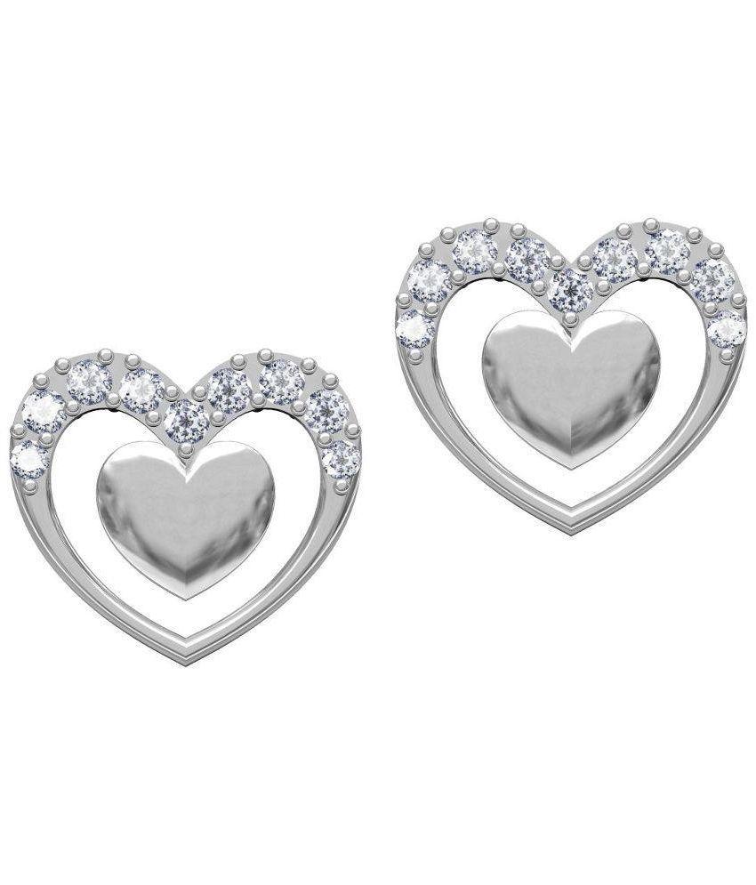 Twisha Silver Alloy Stud Earring