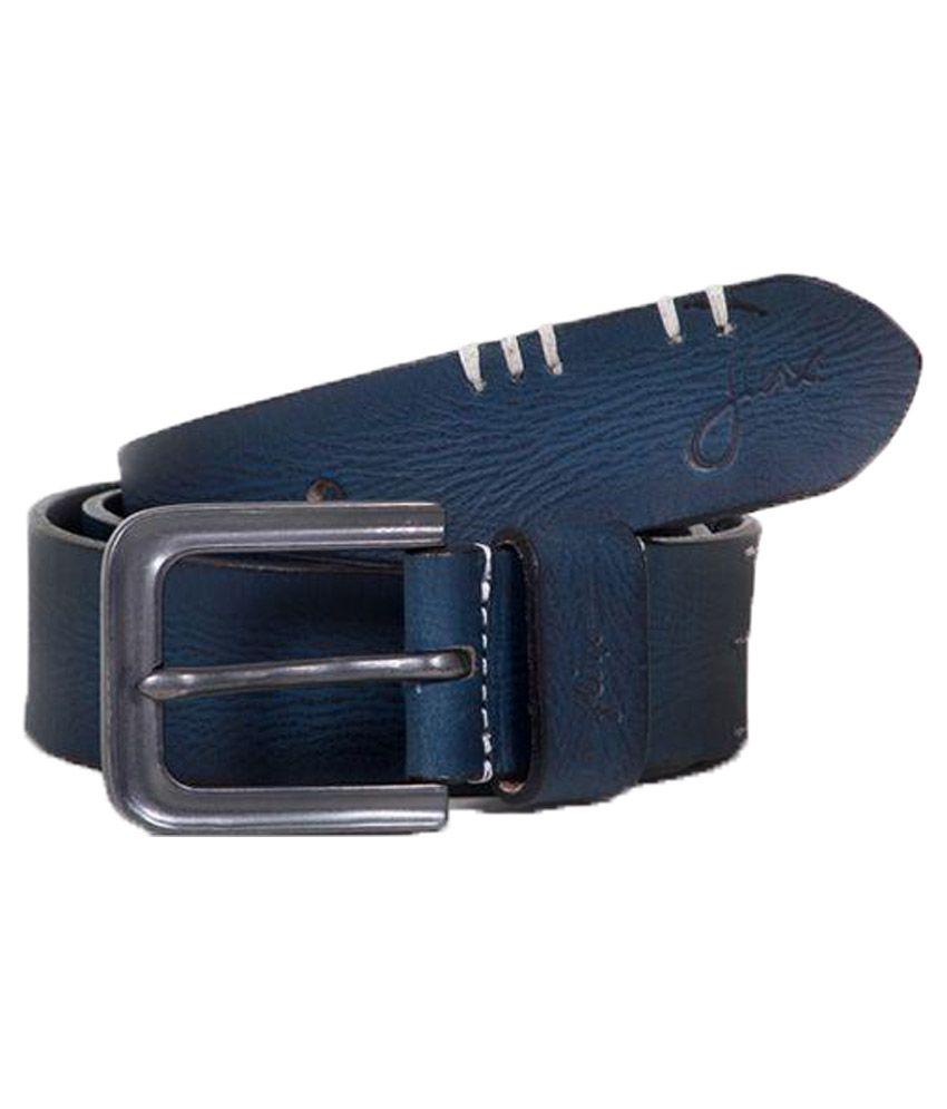 Flinx Blue Leather Belt