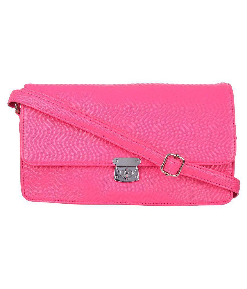 Freppy Pink Pu Sling Bag