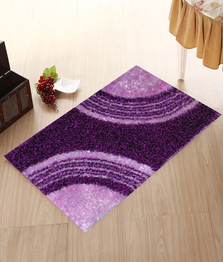 Presto Purple Polyester Floor Mat