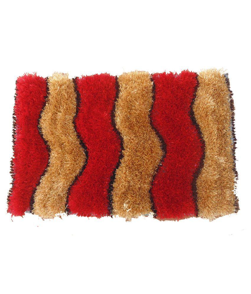 Presto Red Polyester Floor Mat