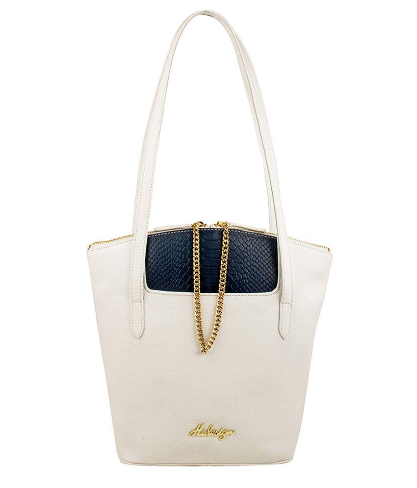 Hidesign Sb Sibyl 01 Ge White Shoulder Bag