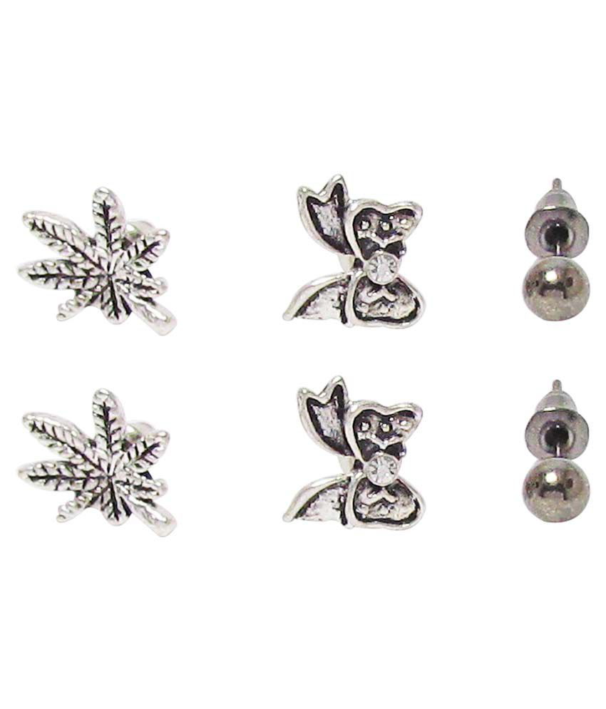 Jewelz Alloy Combo Of Stud Earrings