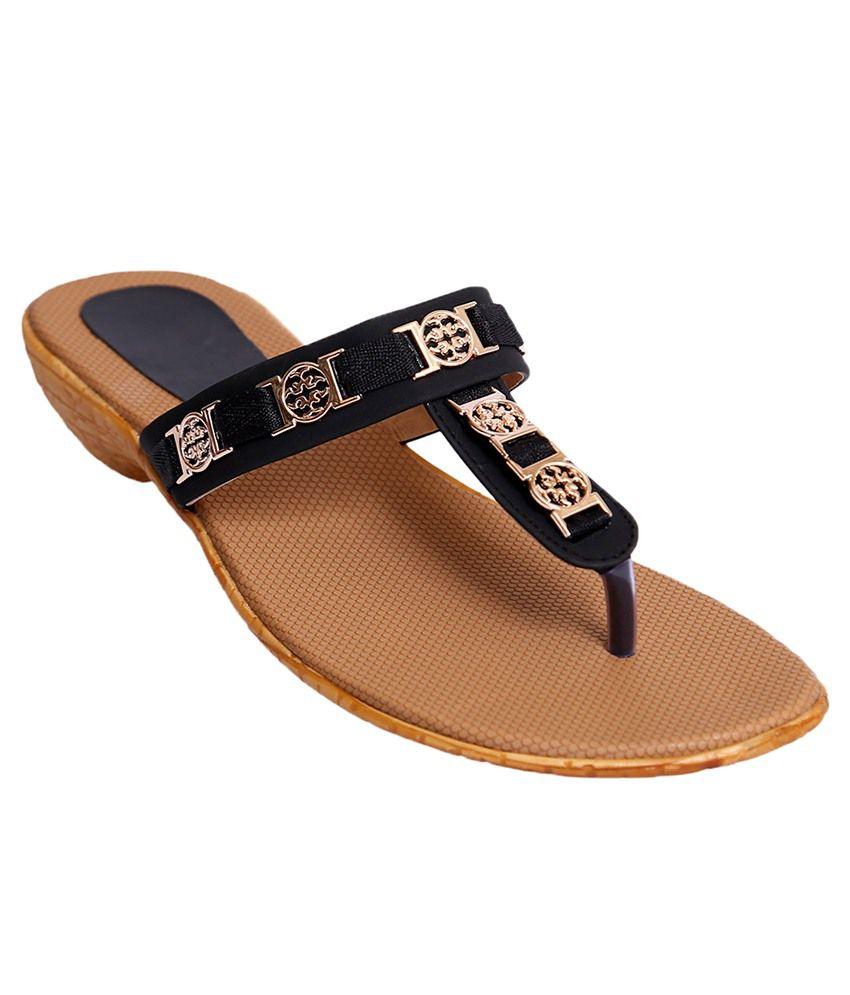 Hitanksha Harshit Brown & Black Heels