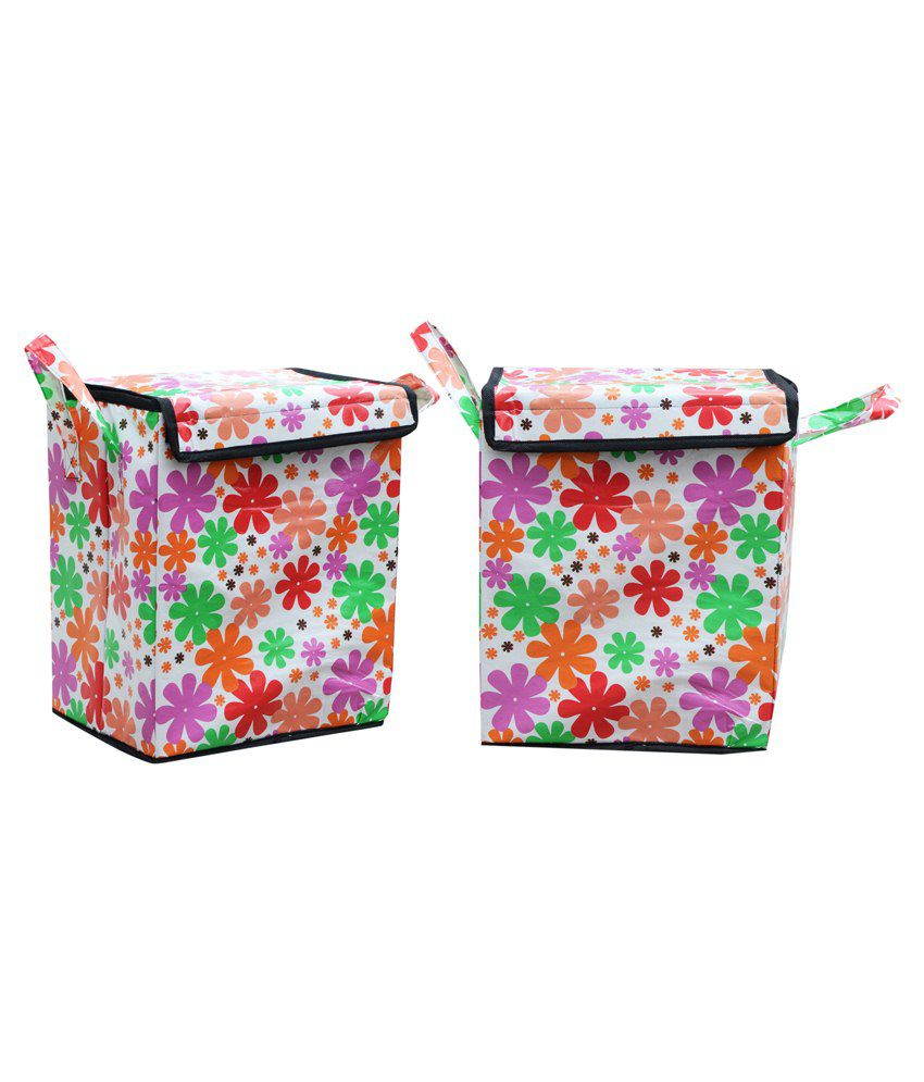 Furhome Multicolour Polyester Laundry Bags Set Of 2