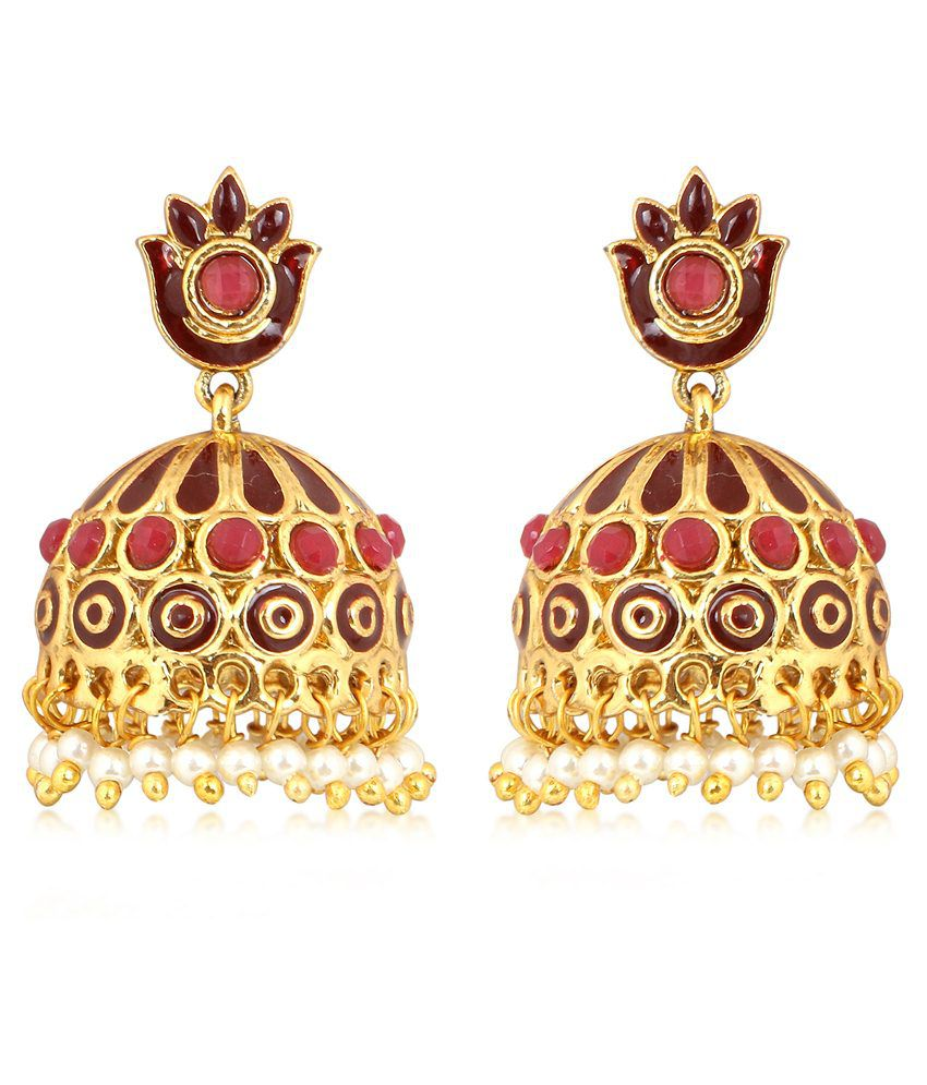 Inaya Multicolour Copper Drop Earrings