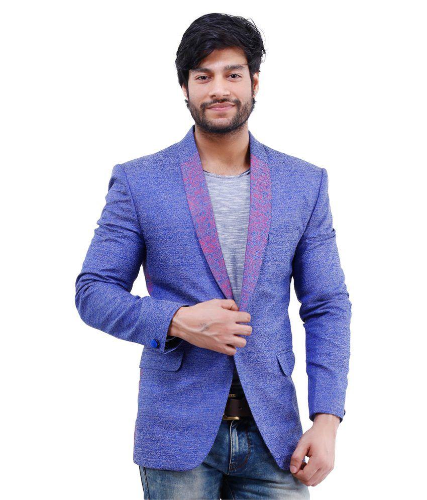 Lamode Blue Polyester Blazer