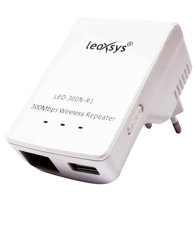 Leoxsys Leo-300n-r1 300mbps Wireless Repeater Router Range Extender With Usb Power Output