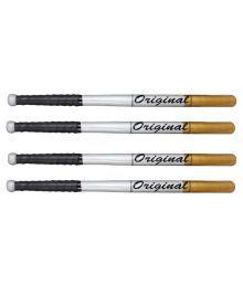 Bass Ball Bat Orignal Multicolour Baseball Bat - Set Of 4 Pieces