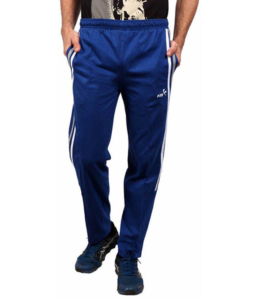 Fitz Blue Cotton Trackpant