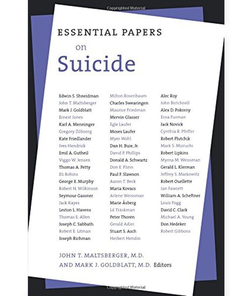 suicide term paper