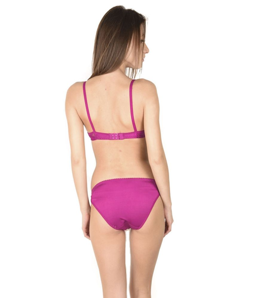 1c3a1fcde9 Buy Simoni Pink Satin Net Bra   Panty Sets Online at Best Prices in ...